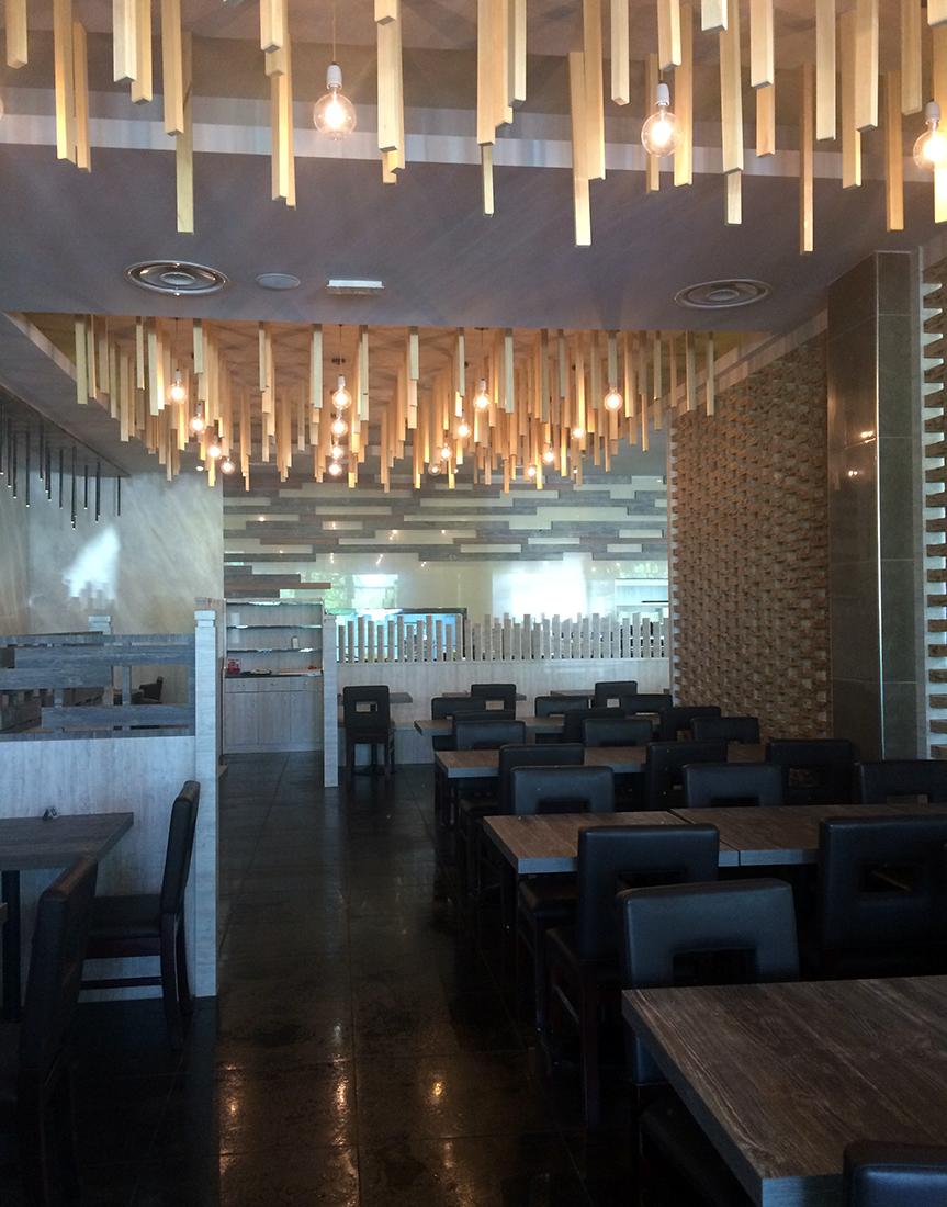 Architettura d 39 interni ristorante giapponese fusion for Progetti architettura interni
